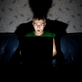 Shocked Computer Hacker