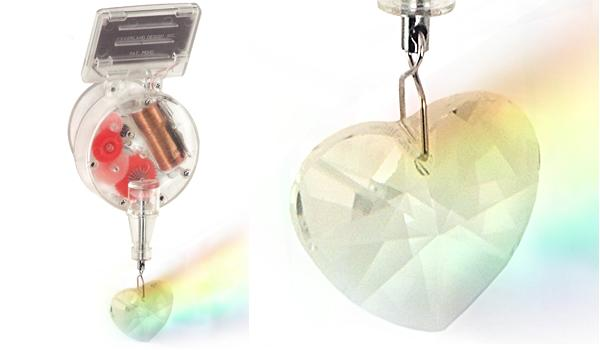 Kikkerland Heart Solar Powered Rainbow Maker