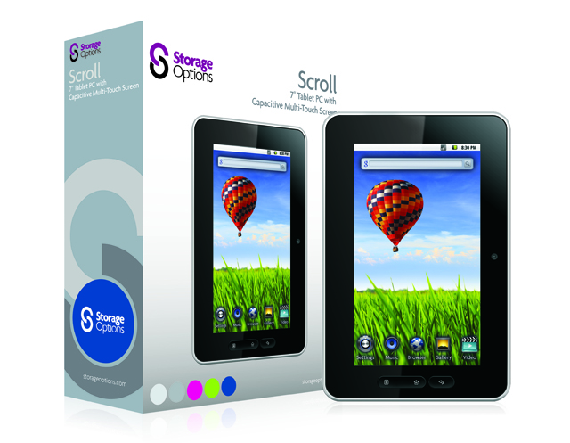 Storage Options Scroll Tablet