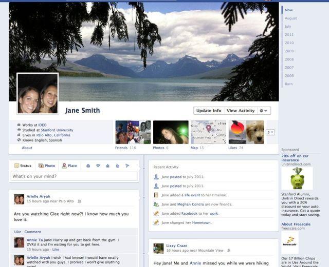 facebook timeline screenshot