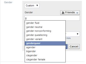 facebook genders 1