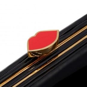 Lulu Guinness black patent iPhone clutch – £125