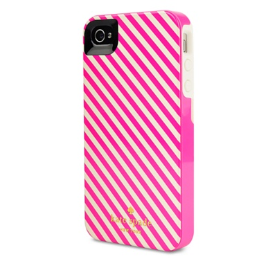 Kate Spade pink and white contour iPhone case – £29.95