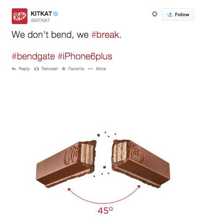 KitKat bend tweet