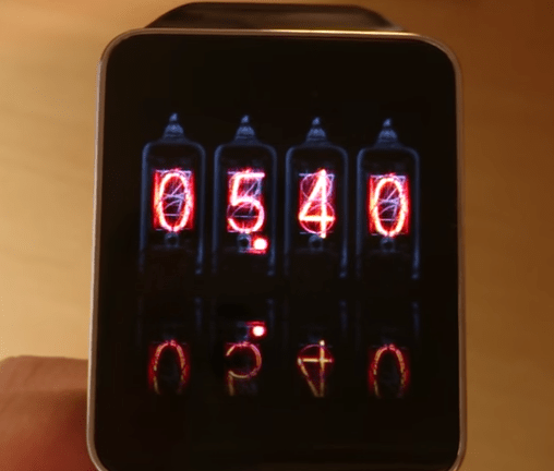 Nixie Tubes theme for Android Wear
