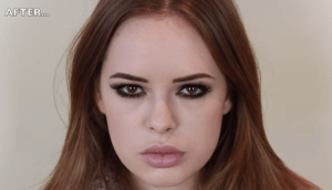 Tanya Burr Lana Del Ray make-up look