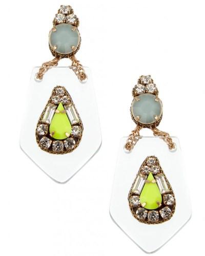 Accessorize perspex earrings