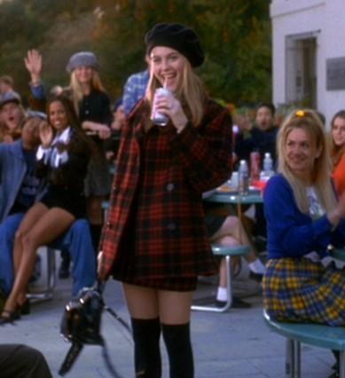 Cher Clueless tartan coat