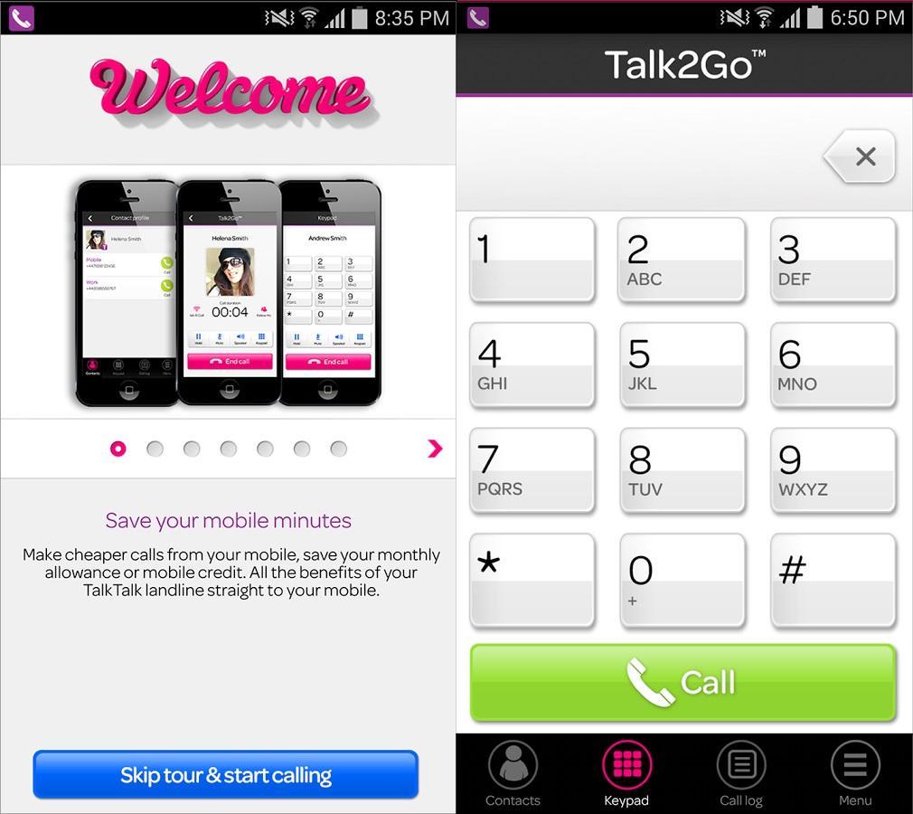 TalkTalks Talk2Go app will let you use your landline