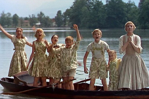 The Sound of Music still – curtain clothes