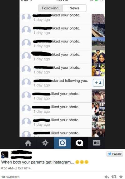 Mom on Instagram