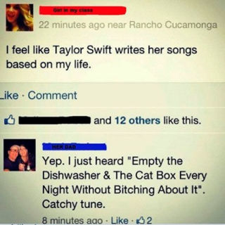 Taylor Swift Mom Facebook comment