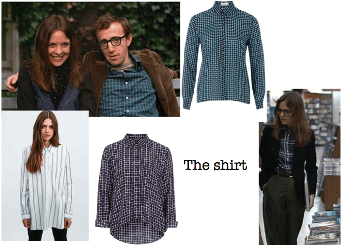 The shirt Annie Hall inspiration