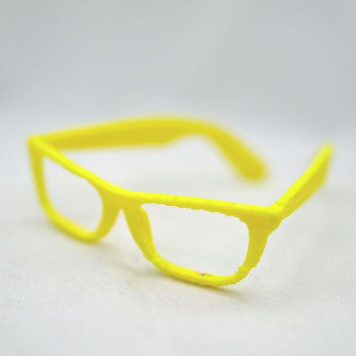 Yellow Glasses - 3D Printed
