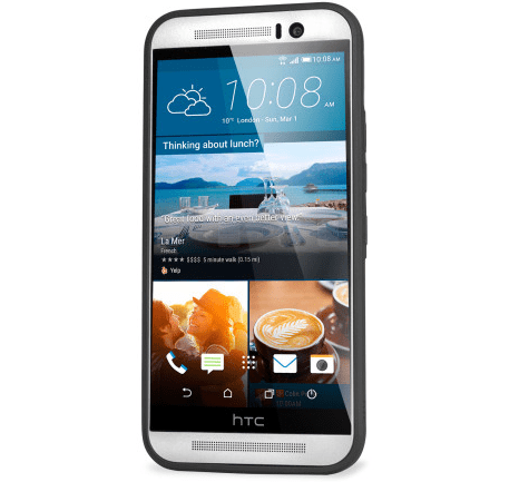 Official clear HTC One M9 case.