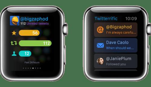 Apple Watch apps: Twitterific.