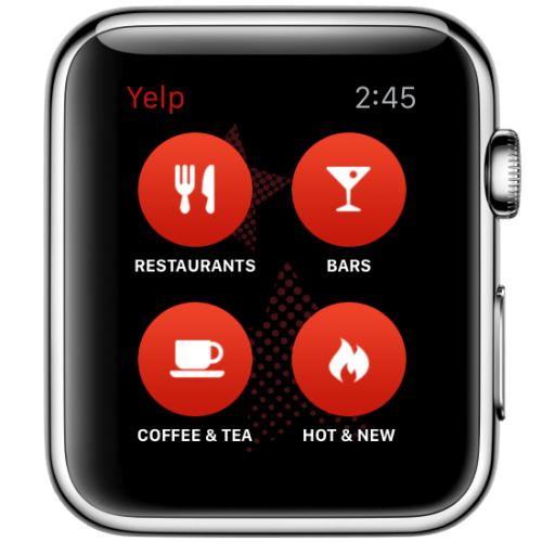 Apple Watch apps: Yelp.