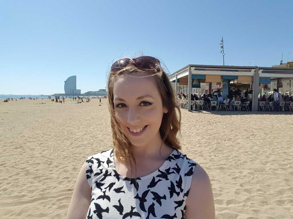 Holly Brockwell Barceloneta beach