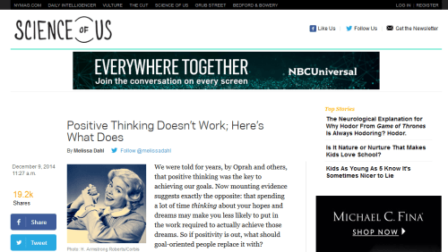Interesting websites: Science of Us.
