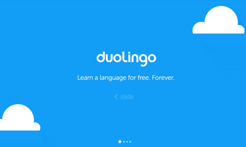 Interesting apps for when you're bored: Duolingo.