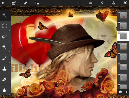 iPad photo editing apps: Adobe Photoshop Touch.