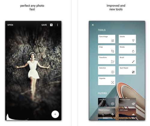 iPad editing apps: Snapseed.