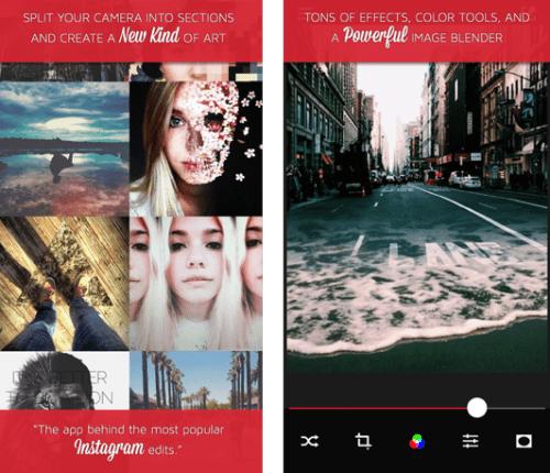 iPad photo editing apps: Split Pic.