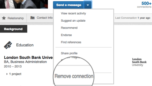 how to delete connections from linkedin