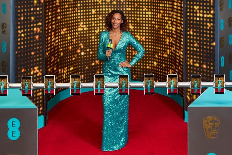 EEs BAFTA red carpet host Rochelle Humes (7).jpg
