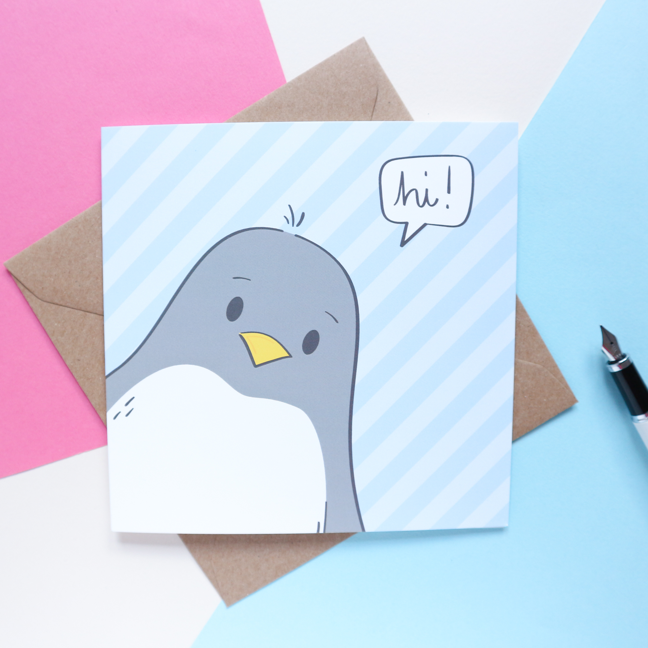 Sian Shrimpton Cute Penguin Note Card