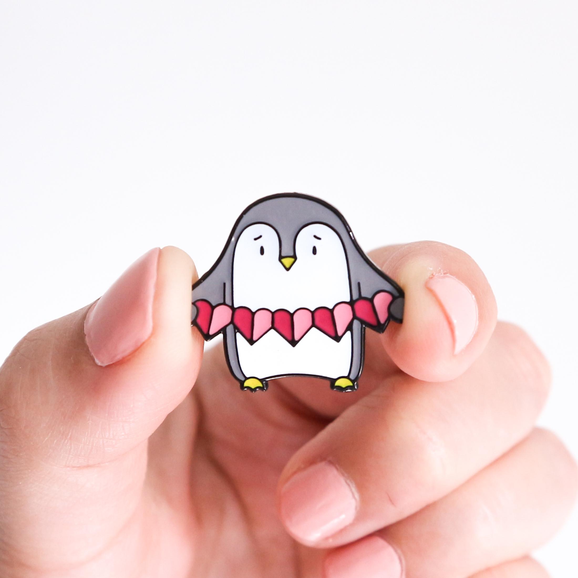 Sian Shrimpton Pink Penguin Enamel Pin