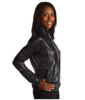 Shiny Black Mizuno Sprinter Jacket Right Side