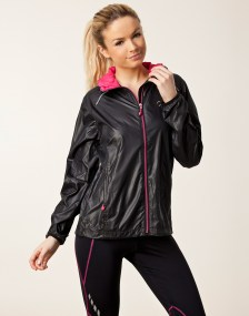 Rohnisch Alba Running Jacket in Black Front View