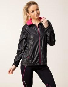 Rohnisch Alba Running Jacket in Black Front View