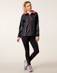 Rohnisch Alba Running Jacket in Black Full View