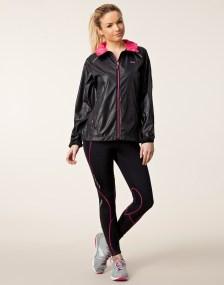 Rohnisch Alba Running Jacket in Black Full View