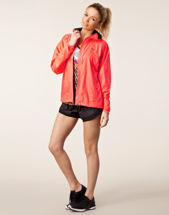 Rohnisch Alba Running Jacket in Red Full View