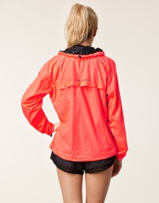 Rohnisch Alba Running Jacket in Red Back View