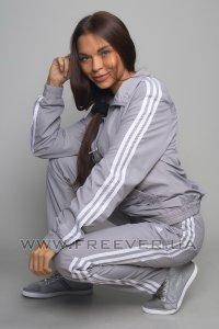 Gray Women's Adidas Tracksuit