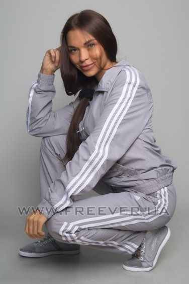 Gray Women's Adidas Tracksuit