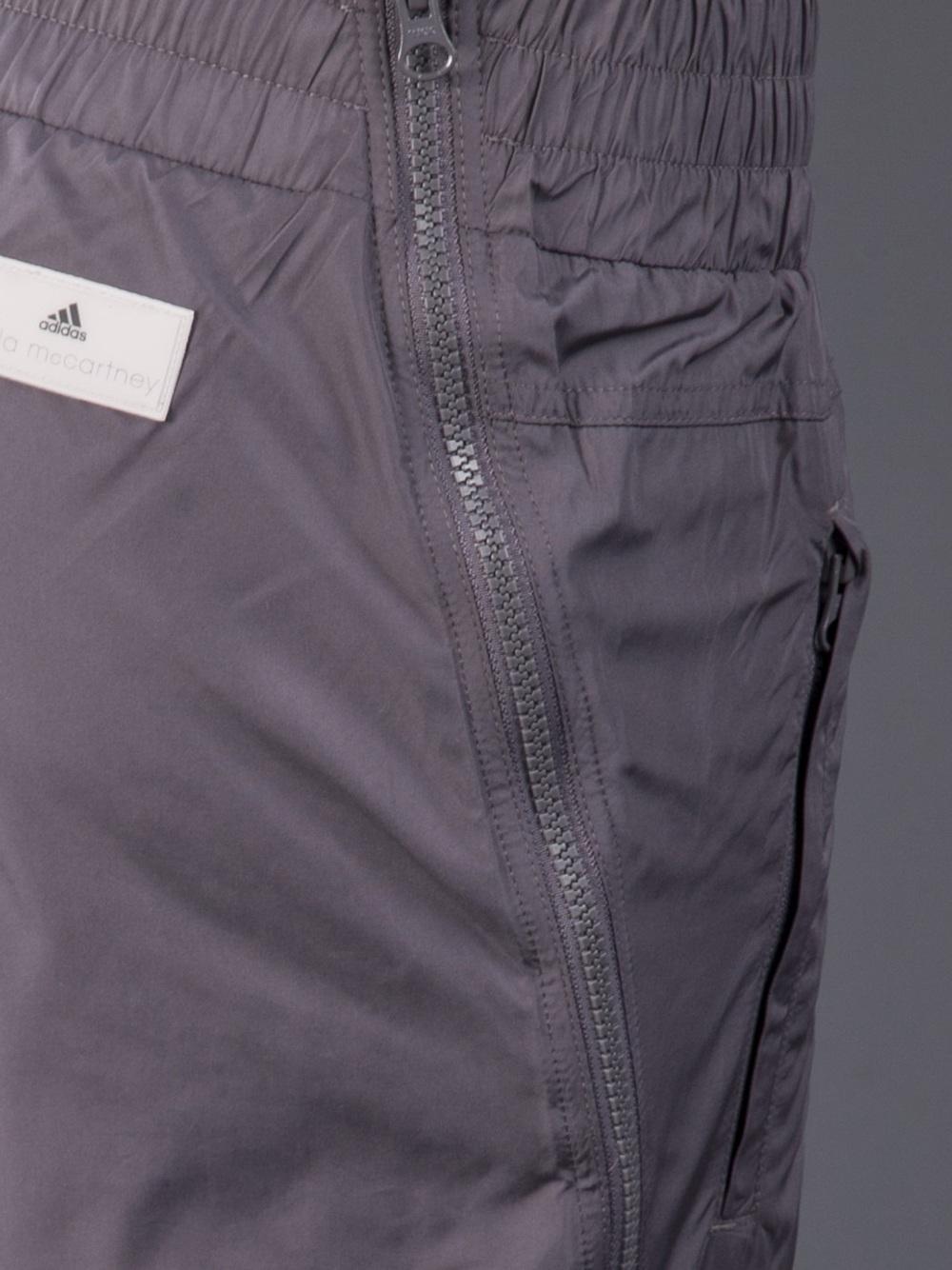 Adidas Stella McCartney Pants Studio Woven in Charcoal Gray Pocket View