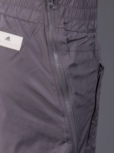 Adidas Stella McCartney Pants Studio Woven in Charcoal Gray Pocket View