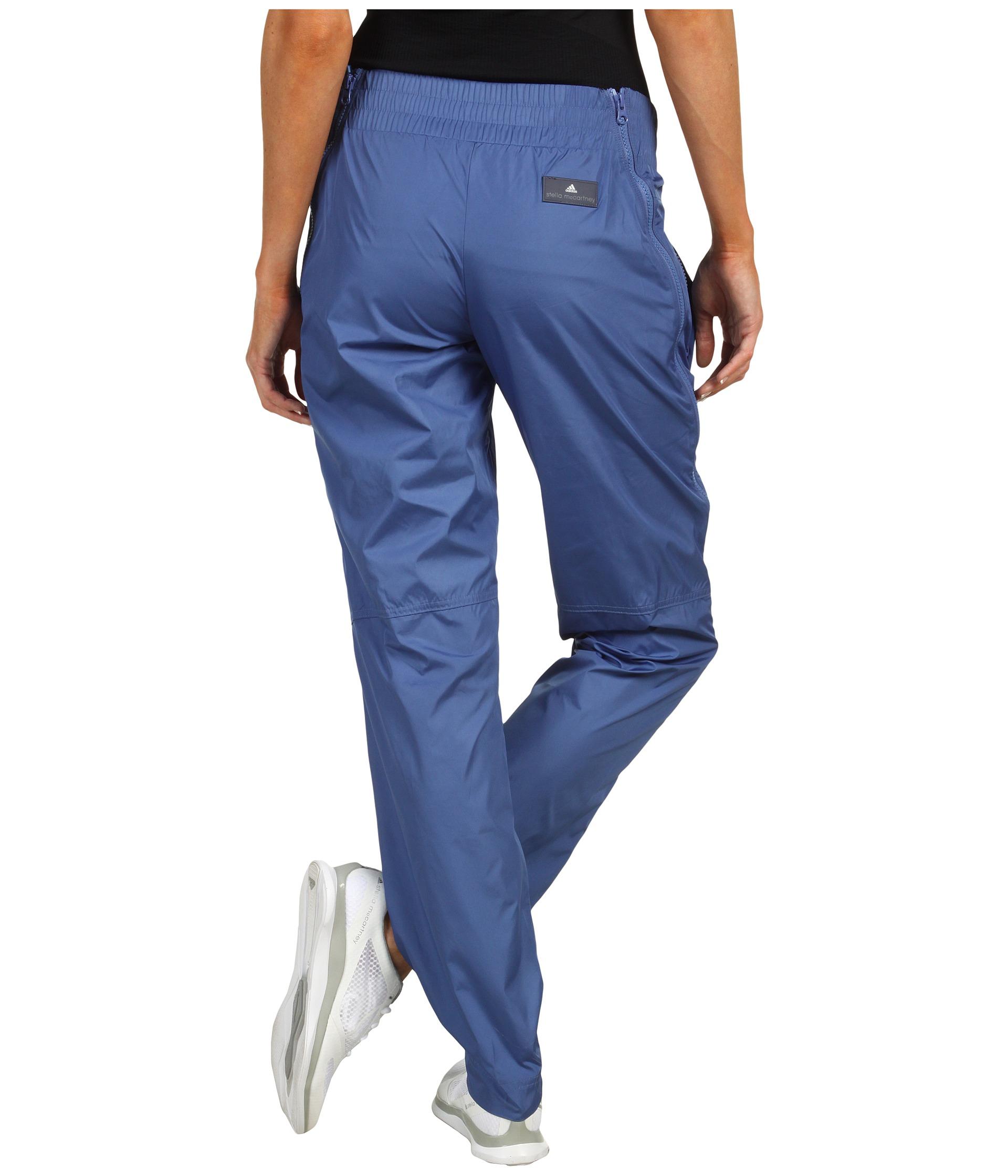 Adidas Stella McCartney Studio Woven Pants in Baby Blue Rear View