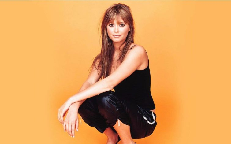 Holly Valance Nylon Pants Close Up