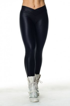 Shiny Workout Tights Front View