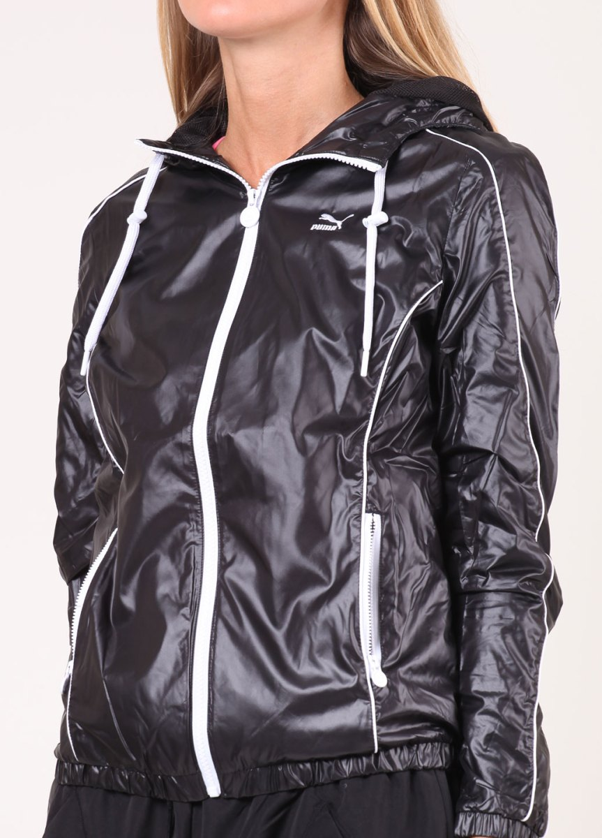 Women's Shiny Black Puma Jacket