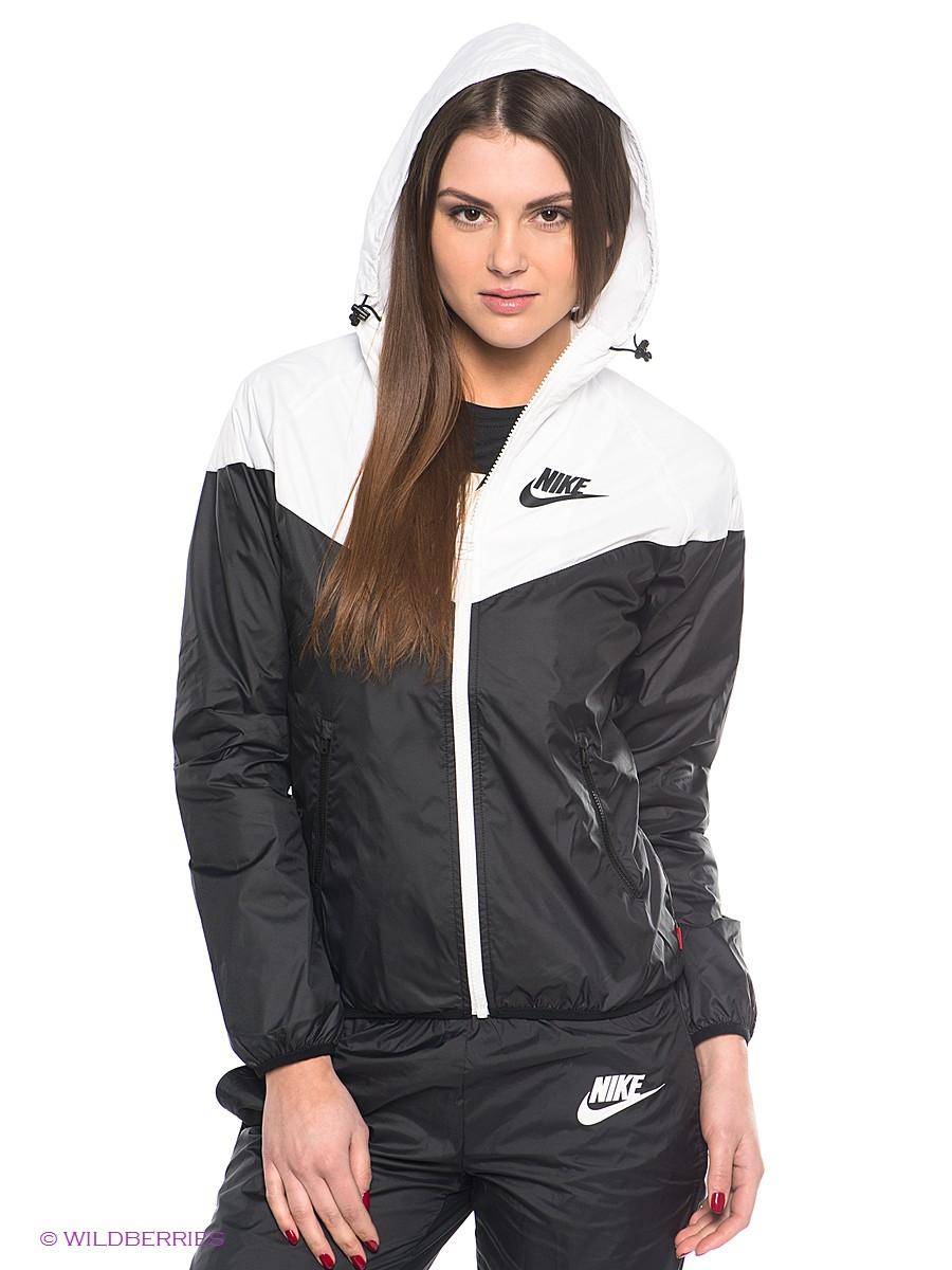 Black Women's Nike Tracksuit Hood View