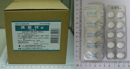 撲菌特錠 Baktar Tablets | 處方藥 | 臺灣塩野義製藥