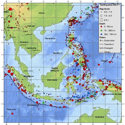 Indonesia earthquake and other hazards
