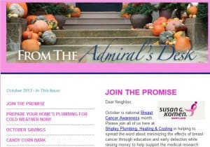 From The Admirals Desk Newsletter  Shipley Plumbing